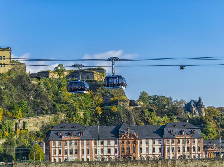 Dusseldorf trip to Koblenz and Fortress Ehrenbreitstein cable car